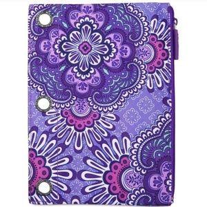 RARE Vera Bradley 3 hole lilac tapestry pouch